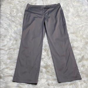 LOFT Silver Metallic Wide Leg Pants Trousers